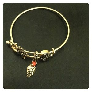 Jewelry - Gold Bangle with charms